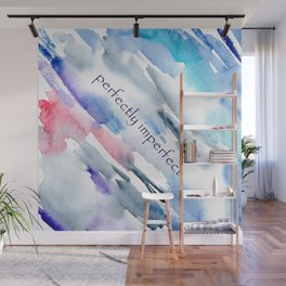 Perfectly imperfect || watercolor Wall Mural