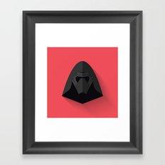 Kylo Ren Flat Design Framed Art Print
