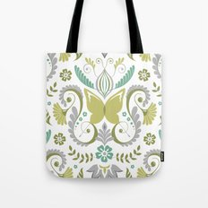 Butterfly Damask - Spring Mod Tote Bag