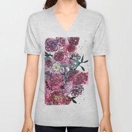 Flower Illustration Unisex V-Neck