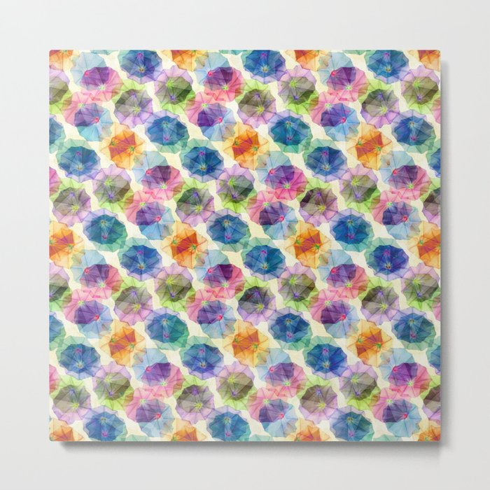 Funnel Flower Pattern Metal Print