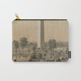 Vintage Washington Monument Illustration (1886) Carry-All Pouch