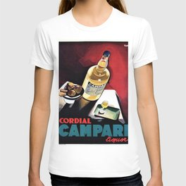 Vintage Campari Italian Cordial Advertisement Wall Art T-shirt