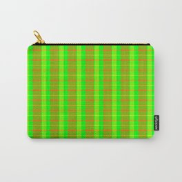 Lime Bars Plaid Carry-All Pouch