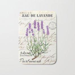 Lavender Antique Rustic Flowers Vintage Art Bath Mat