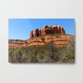 Red Sandstone Rockformation Metal Print