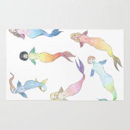 colorful mermaids Rug