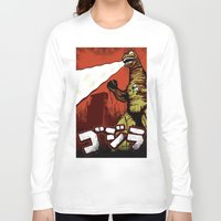 godzilla Long Sleeve T-shirts featuring Godzilla by HAZZAH!