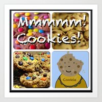 cookies Art Prints featuring Cookies by Jolly Songbird