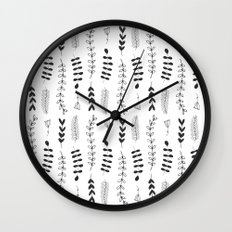 Botanical Illustration Pattern N1 Wall Clock