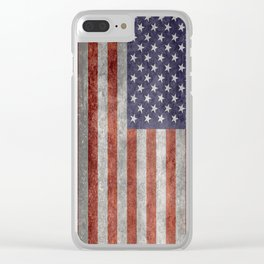 United States of America Flag 10:19 G-spec Vintage Clear iPhone Case