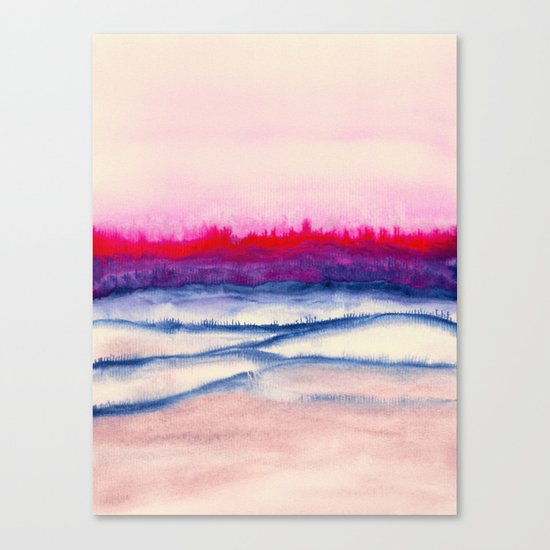Watercolor abstract landscape 29 Canvas Print