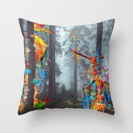 Forest of Sea Creatues Throw Pillow