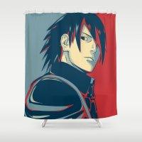 sasuke Shower Curtains featuring Sasuke - Truth by KingSora