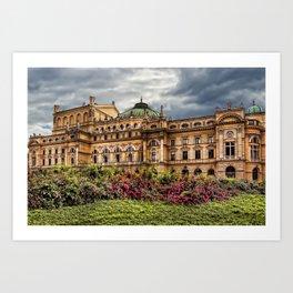 Slowacki Theatre in Cracow Art Print
