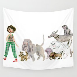 Doggy happiness Wall Tapestry