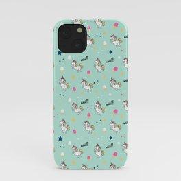 world of unicorns and ice cream iPhone Case