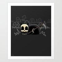 Grim Reapets - A Cat Named Coffin - Grim Pets Art Print