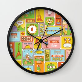 Vector Collage Wall Clock