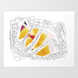 multicolor doodle Art Print
