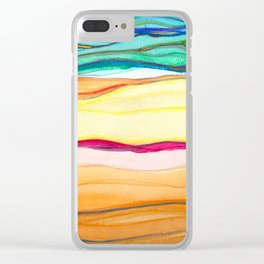 gradient stripes Clear iPhone Case