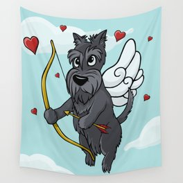 Cupid Scottish Terrier Wall Tapestry