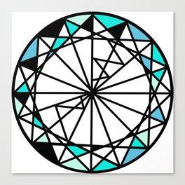 Sapphire blue diamond - circle Canvas Print