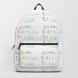 Happy birthday 1-Happy birthday, birthday,greeting,candle,birth date, anniversary Backpack