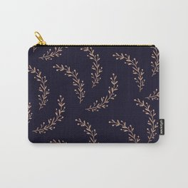 Gold Leaves and Navy Carry-All Pouch