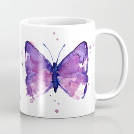 Butterfly Purple Watercolor Animal Coffee Mug