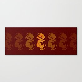 Golden Dragon Pattern Canvas Print