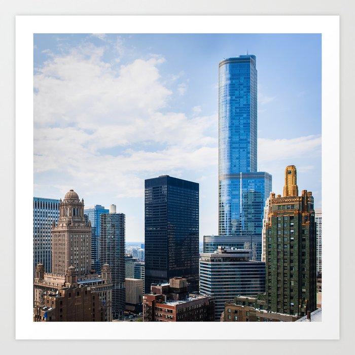 Architecture of Chicago Art Print