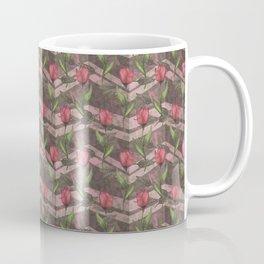 red tulip chevron Coffee Mug
