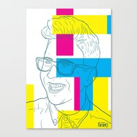 tyler oakley Canvas Prints featuring Tyler Oakley by Antonio Páramo