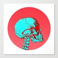 selfie Canvas Prints featuring #selfie by Douglas Nogueira