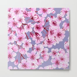 Cherry blossom pattern Metal Print