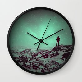 Lost the Moon While Counting Stars II Wall Clock