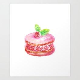 Pinky Macaroon Art Print