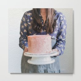 For Your Birthday, I Baked You a Cake. Metal Print