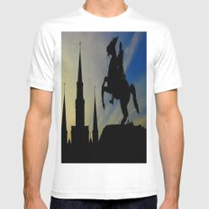 Landmark Silhouettes in Casa de Armas Mens Fitted Tee MEDIUM White