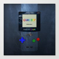 gameboy Canvas Prints featuring GAMEBOY by MiliarderBrown