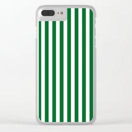 Team Colors 4... green , white Clear iPhone Case