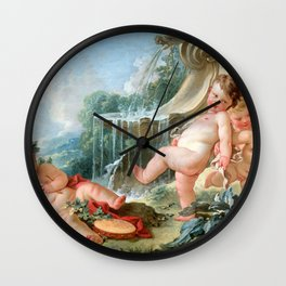 "François Boucher ""Music and Dance and Cupids in Conspiracy"" Wall Clock"