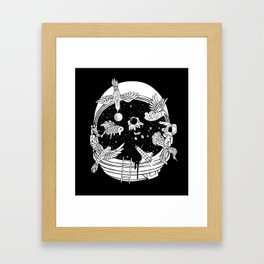Depth of Discovery (A Case of Constant Curiosity-B/W) Framed Art Print