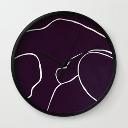 Lined - circle dots Wall Clock