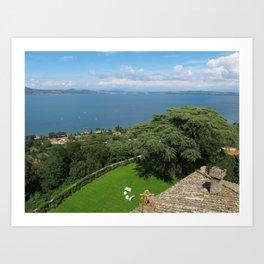 Lake Bracciano Panoramic View Art Print