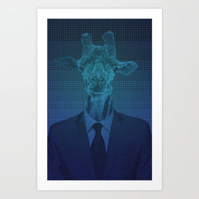 Giraffe Suit. Art Print