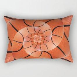Droste Basketball Spiral  Rectangular Pillow