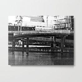 Bridge Stockholm city Metal Print
