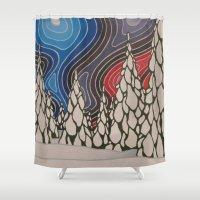 aurora Shower Curtains featuring Aurora by The art of Summer Breeze